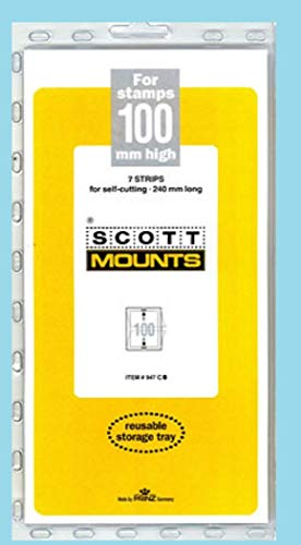 Scott or Prinz 100x240 Clear Stamp Mounts Scott # - Stamp Mounts Clear