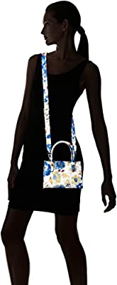 GUESS Loree Mini Satchel-Blue Floral