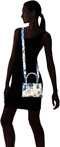 Guess Loree, Borsa a mano Donna, Blu (Blue Floral), 11.5x15x21 cm (W x H x L)