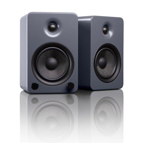 "Kanto YU5 5.25"" 2-Way Powered Bookshelf Speakers with aptX Bluetooth 4.0"