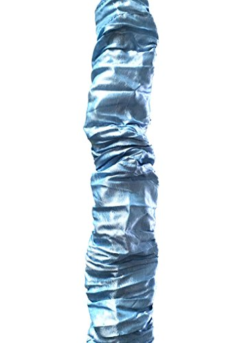 Royal Designs Sky Blue Cord & Chain Cover, 4 Feet - Silk-Type Fabric - Velcro - Use for Chandelier Lighting Wires (CC-31-BLU)