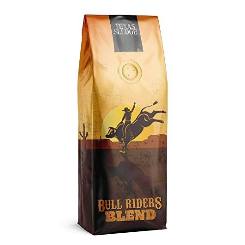 Texas Sludge Coffee - Bull Riders Blend Vienna Dark Roast Specialty Blend 100% Premium Arabica Beans - 1 Lb. (Whole Bean)
