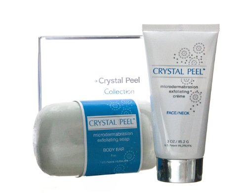 Crystal Peel Microdermabrasion Collection Duo, Soap 8 oz and Microdermabrasion Exfoliating Creme 3 oz