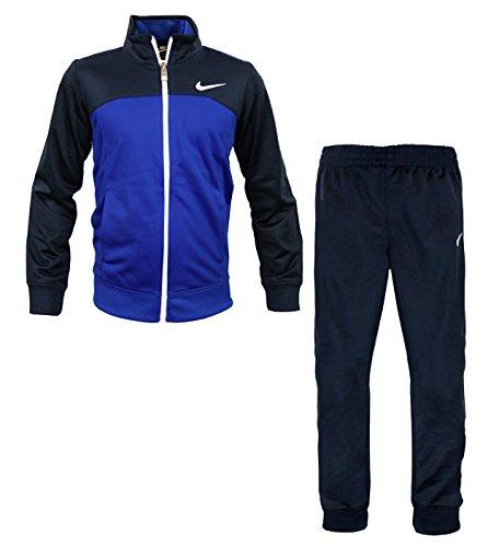 - NIKE Boys Tricot Tracksuit Jacket & Striped Pants Set, Obsidian Blue/Navy (6)