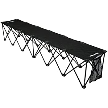 Amazon Com Insta Bench Classic 6 Seater Bench Black