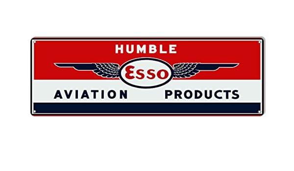 Aviation Gasoline ESSO Motor Oil Metal Sign Reproduction 8x24