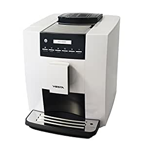 Viesta CB300S Kaffeevollautomat Modell 2017, leistungsstarke Kaffeemaschine, 1,8 L, 19 bar, 1400 W, weiß