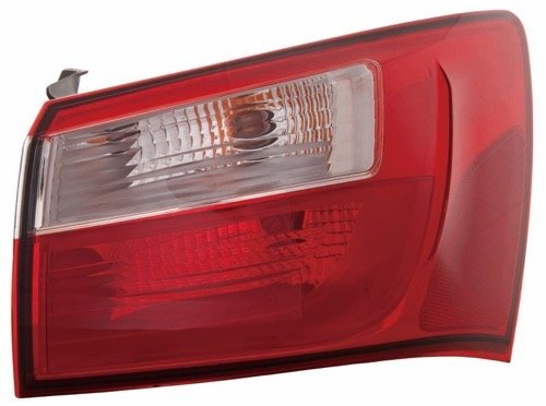 Go-Parts OE Replacement for 2012-2016 Kia Rio Rear Tail Light Lamp Assembly/Lens / Cover - Left (Driver) Side Outer - (EX + LX + LX+) 92401 1W000 KI2804109 for Kia Rio ()