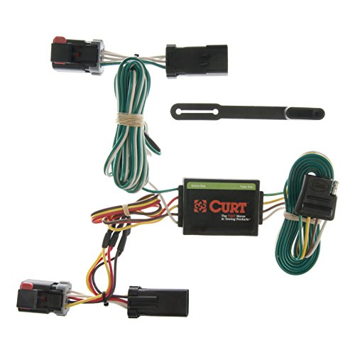 CURT 55334 Vehicle-Side Custom 4-Pin Trailer Wiring Harness for Select Dodge, Chrysler, Plymouth Vehicles