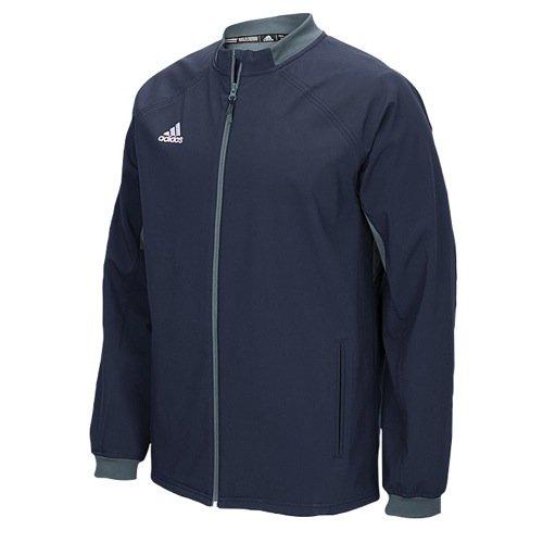 adidas Mens Climawarm Fielders Choice Full-Zip Warm Jacket Navy/Grey Xs