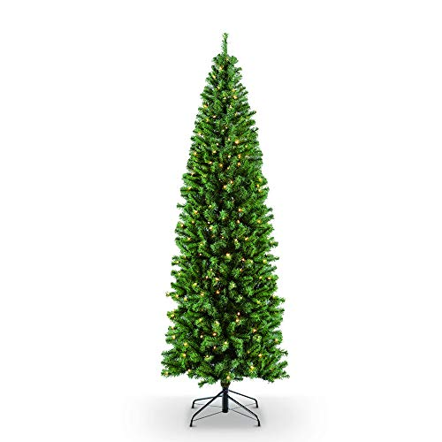 Puleo International 7.5 ft. Pre-Lit Northern Fir 350 Clear UL Listed Lights Artificial Christmas Tree, - Tips 350 Lights Clear
