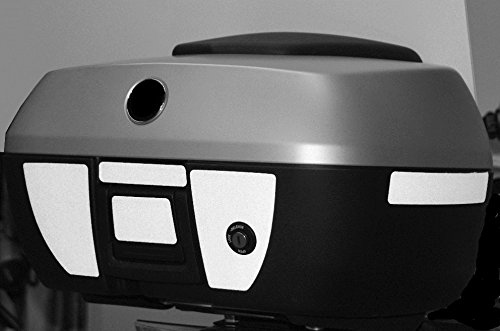 Moto Equip Black Reflective Sticker Kit made from 3M Scotchlite Vinyl tape for BMW R1200RT K1200GT K1300GT 49 Liter Top Case ME-RK-17 ME RK-17