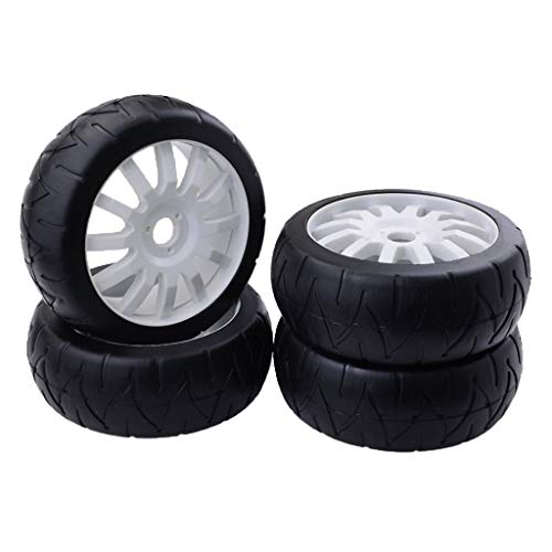 B Blesiya 1/8 Scale RC Drift Racing Car Model Wheel Tyre Tyres 4Pcs Replacement Parts