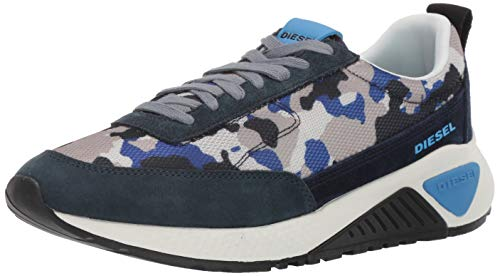 Diesel Men's SKB S-KB Low LACE-Sneakers, Camouflage/blu Navy, 9 M US ()