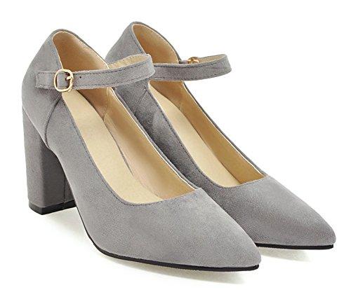 Stable Chaussures Femme Boucle Basse Gris Aisun Mariage Fermeture Escarpins Pour À Ea5OOdqwc