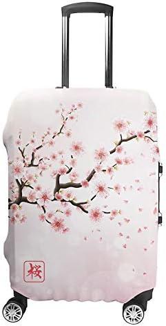 スーツケースカバー トラベルケース 荷物カバー 弾性素材 傷を防ぐ ほこりや汚れを防ぐ 個性 出張 男性と女性桜