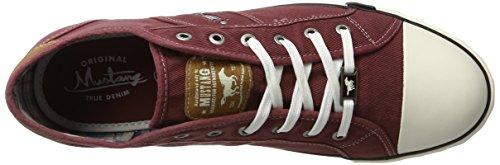 Mustang 4058-305, Zapatillas para Hombre Rojo (55 Bordeaux)