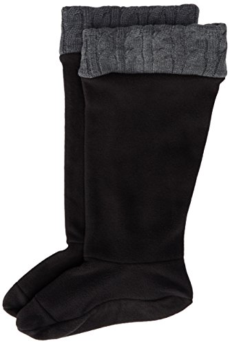 Chooka Boots Rain Boots - Chooka Women's Fleece Rain Boot Liner, Charcoal, Large/9-11 M US