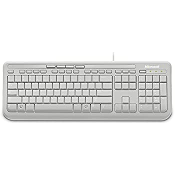 microsoft wired keyboard 600 white mac win usb computers accessories. Black Bedroom Furniture Sets. Home Design Ideas