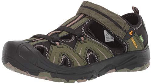 Merrell Boys' Hydro Sandal Olive/camo 4 Medium US Toddler