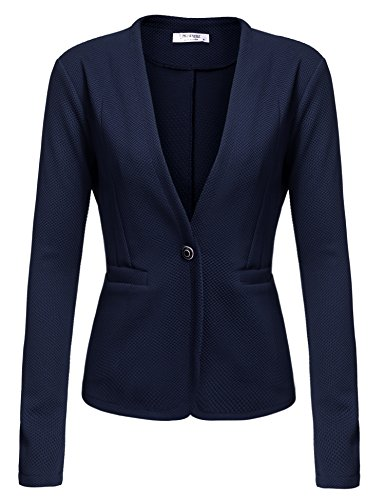 Women's Slim Business Blazer Blue - 5