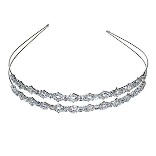 al Charming Rhinestone Headpiece Headband Veil Tiara (Wedding Veil Headband)