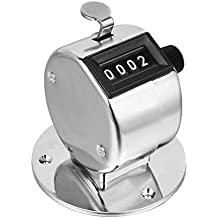 On Tracker | Heavy Duty Metal 4 Digit (0000 to 9999) Manual Handheld Tally Mechanical Click Counter/Tracker, Resettable