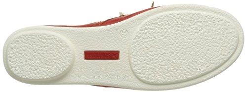 Pikolinos Calabria 917-7123 - Zapatos de Cordones Para Mujer Rojo (Carmin)