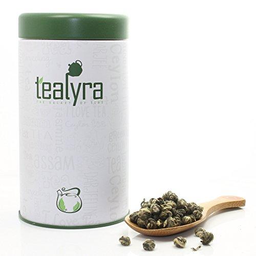 Imperial Jasmine Dragon Pearls Green Loose Leaf Tea, Organic (6.5oz / 180g TIN)