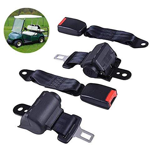 (VB WYLL 2 PCS Universal Retractable Golf Cart Seat Lap Belts for EZGO/Yamaha/Club Car)