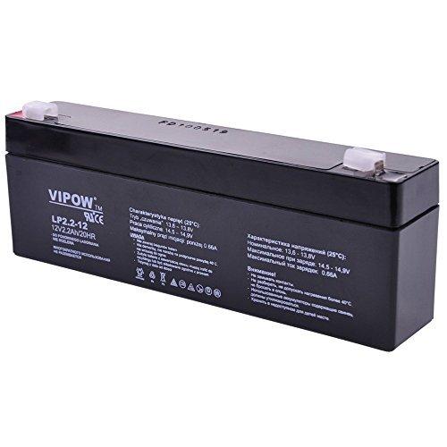 VIPOW 12V 2.2Ah Gel Battery Deep Cycle Maintenance Free UPS Backup Power...