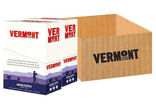 Vermont Smoke & Cure Antibiotic Free, Gluten Free, Turkey Meat Sticks, Ancho Pepper, 1oz Stick, 48 Count