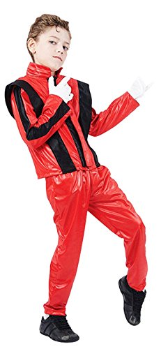 Childrens Superstar Fancy Dress Costume Michael Jackson Thriller Outfit 7-10 (Michael Jackson Thriller Fancy Dress)