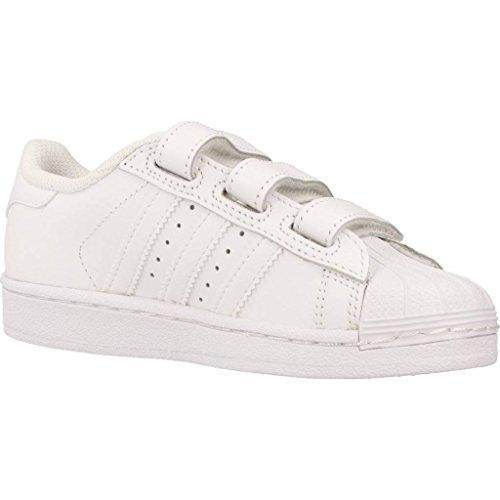 Monochrome Enfants Adidas Blanc Foundation En Pour Cuir B25727 Superstar Chaussures O4qFvP