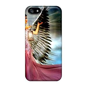 Durable Defender Case For Iphone 5/5s Tpu Cover(angel With Lantern)