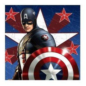 Captain America Beverage Napkins 16pk
