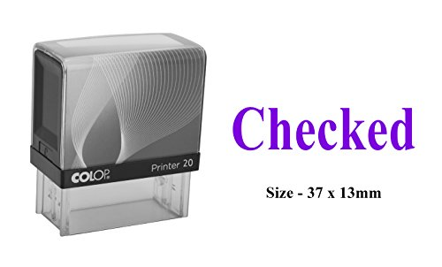 CHECKED Rubber Stamp Colop Office & Commercial Self Inking Stationary Stamp ()