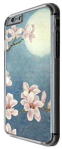1435 - Cool Fun Trendy cute shabby chic flowers roses daisy flora chinese japanese flowers moon Design iphone 6 6S 4.7'' Coque Fashion Trend Case Coque Protection Cover plastique et métal - Clear