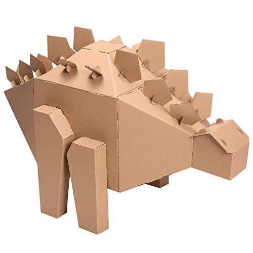 iBonny Cardboard Dinosaur Coloring Playhouse Stegosaurus 3D Model Pretend Play Toy Eco-Friendly Playhouse for Kids]()