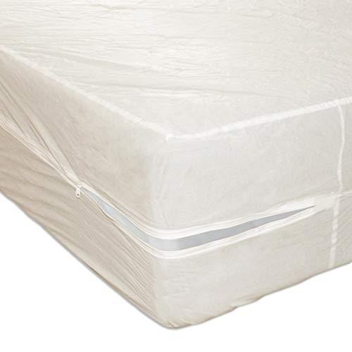 Heavy Duty PVC Vinyl Mattress Protector Cover, Hypoallergenic Waterproof Encasement, Bed Bugs - Dustmites Shield, 15 Inch Deep Pocket (Queen - 80 x 60)
