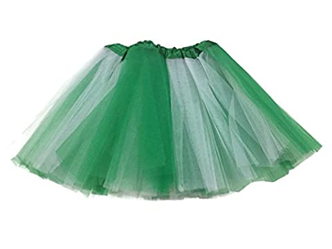 Rush Dance Colorful Ballerina Girls Dress-Up Princess Costume Recital Tutu (Infant, Kelly Green/ White (St Patrick's Day))