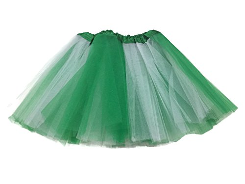 [Rush Dance Colorful Ballerina Girls Dress-Up Princess Costume Recital Tutu (Infant, Kelly Green/ White (St Patrick's] (Ballerina Costumes For Toddler)