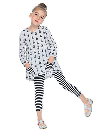 Girl Clothes Online (Arshiner Little Girls Clothing Sets Bunny Long Sleeve Outfits 2 PCS Top Leggings Pajamas Sets Light)