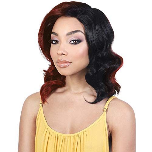 (Motown Tress Synthetic Hair Lace Front Wig Pre-Plucked Deep Part Lace LDP-Ally (ROSE))