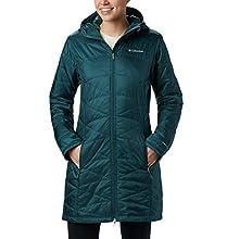 Columbia Women's Mighty Lite Hooded Jacket, Dark Seas, Large