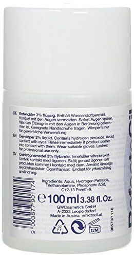 REFECTOCIL COLOR KIT- Natural Brown Cream Hair Dye+ Liquid Oxidant 3% 3.38 oz + Mixing Brush + Mixing Dish by RefectoCil (Image #2)