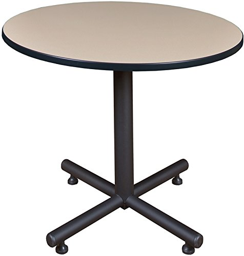 Round Breakroom Table, Beige (36 Inch Lunchroom Table)
