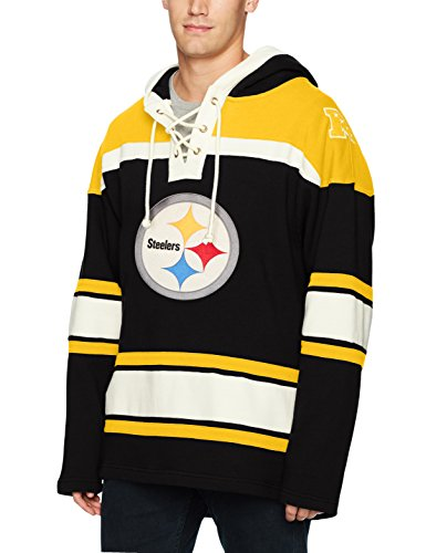 Steelers Pullover Pittsburgh - NFL Pittsburgh Steelers Men's OTS Lacer Pullover Hoodie, Logo, Medium