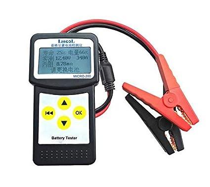 Etrogo Tester per Batteria Auto Tester di Carica e Test della Batteria per Veicolo//Barca//Moto 12V 100-2000 CCA Analizzatore di Avviamento