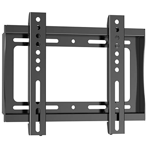 PERLESMITH Fixed TV Wall Mount Bracket for 17-42 Inch LED LCD OLED Plasma Flat Screen TVs – Ultra Slim TV Mount Max VESA 200x200mm – Single Stud Low Profile Fix Wall Mount Holds up to 66lbs